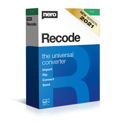 Nero Recode 2021 Crack + Registration Code Free Download Latest